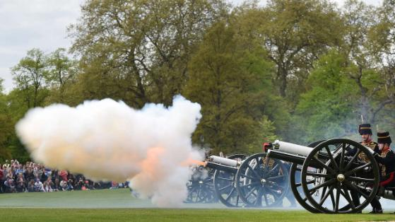 103 Cannon Shots to welcome little Princess