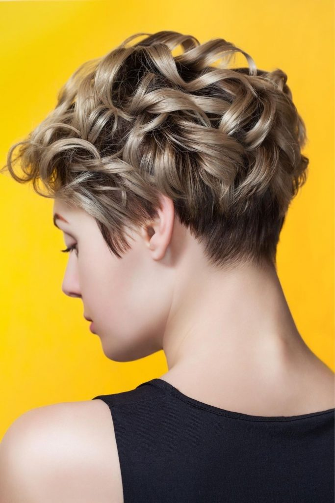 Curly hairs- Short hair style for girls
