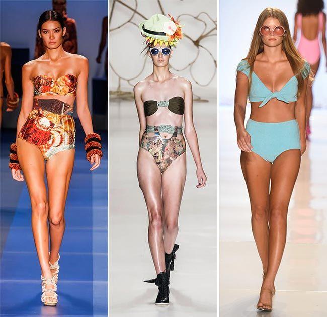 spring summer 2015 swimwear trends high waisted retro swimwear