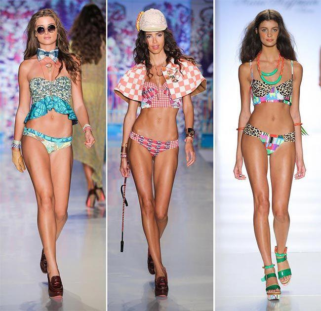 spring summer 2015 swimwear trends longline bikini top swimwear
