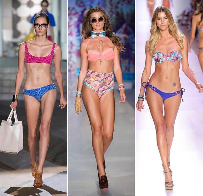 spring summer 2015 swimwear trends mismatched swimwear