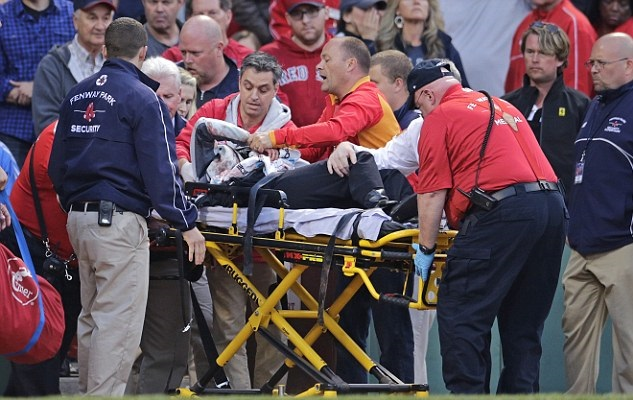 Horrible accident during the US baseball match