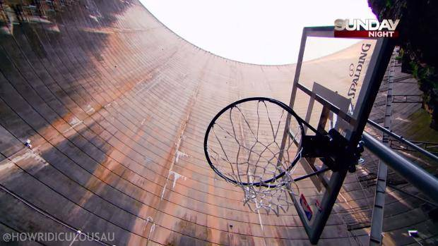The highest basketball throw in history