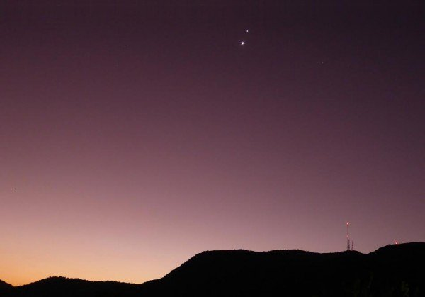 Spectacular Venus and Jupiter conjunction