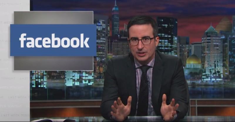 John Oliver Dismisses Facebook Privacy Hoax