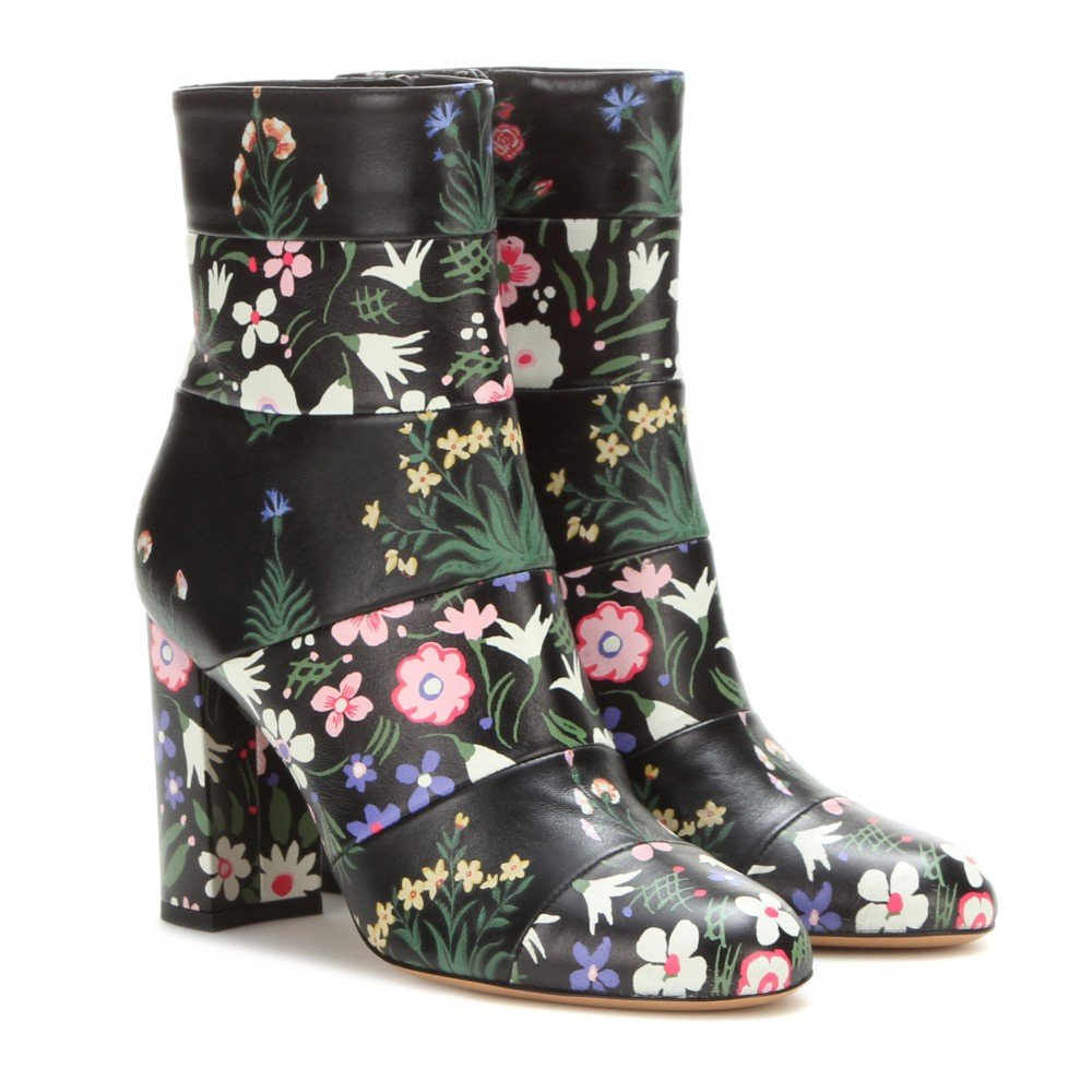 VALENTINO Printed leather boots