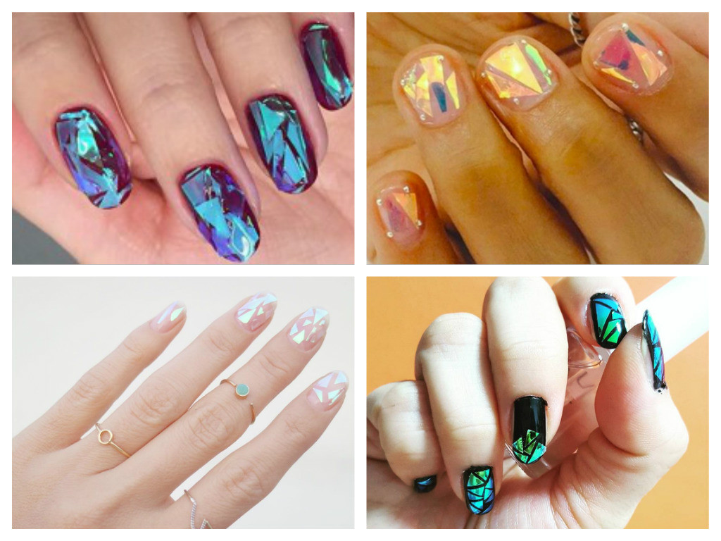 Manicure: How to do Shattered Glass Nails Art – Easy Tutorial