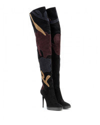 Burberry 'Allison' Patchwork Thigh High Boot