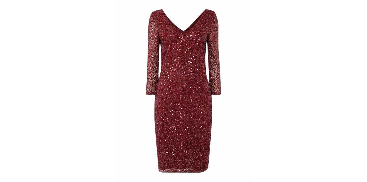 No. 5 in Christmas eve outfits : JS Collections All Over Sequin V Neck Dress @ £140.00