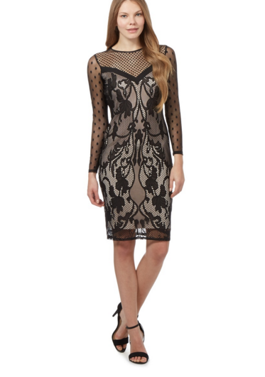 No. 6 in Christmas eve outfits : Star by Julien Macdonald Black lace dress @ £45.50
