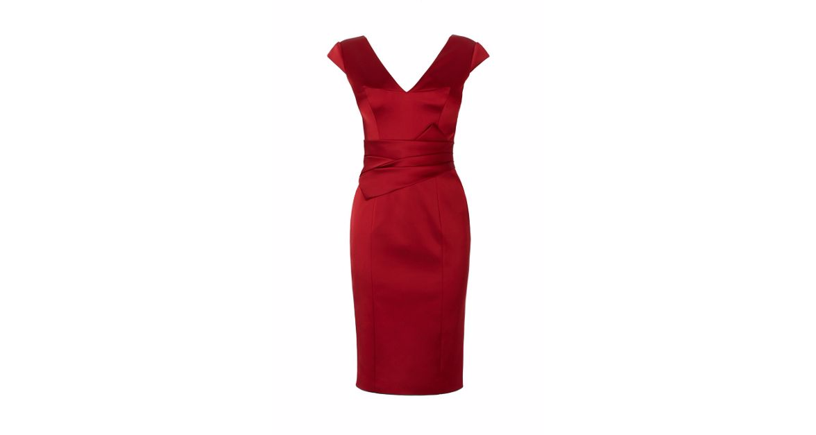 No. 7 in Christmas eve outfits :  Millen Red Signature Satin Dress @ £135.00