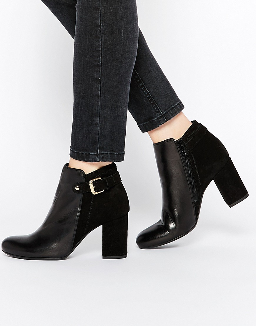 Oasis Florence Block Heel Buckle Ankle Boot