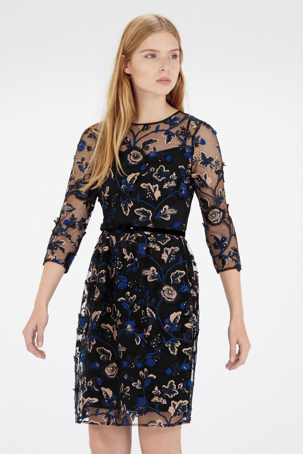 Emroidered and Sequin Dress