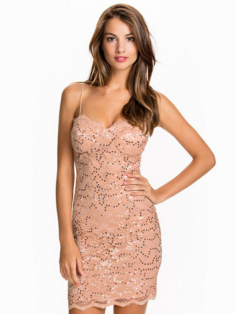 Lace Bra Cup Dress Bodycon dresses - Champagne
