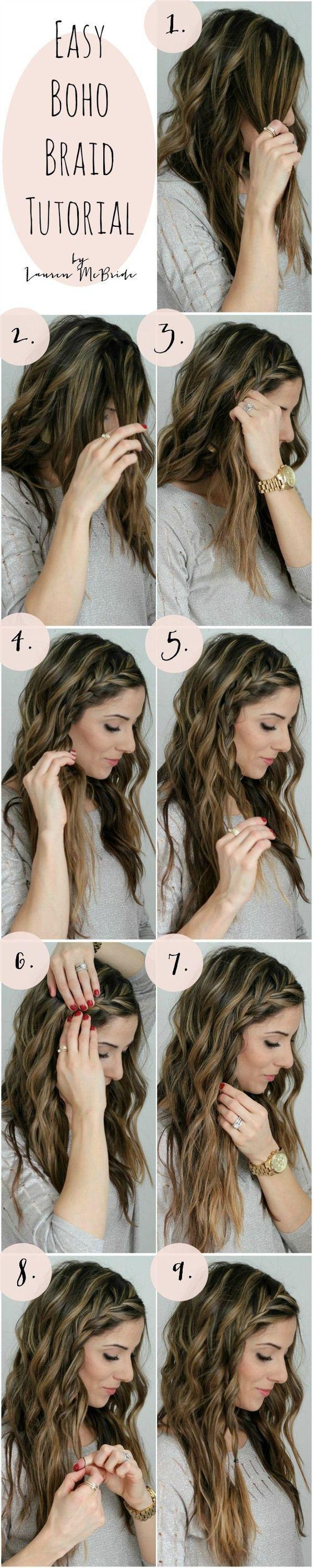 Easy boho braid