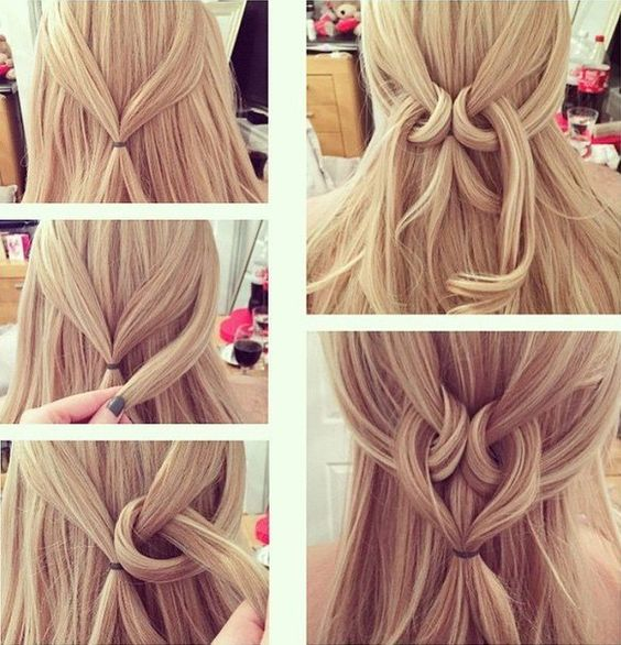 Heart Twist Hairstyle