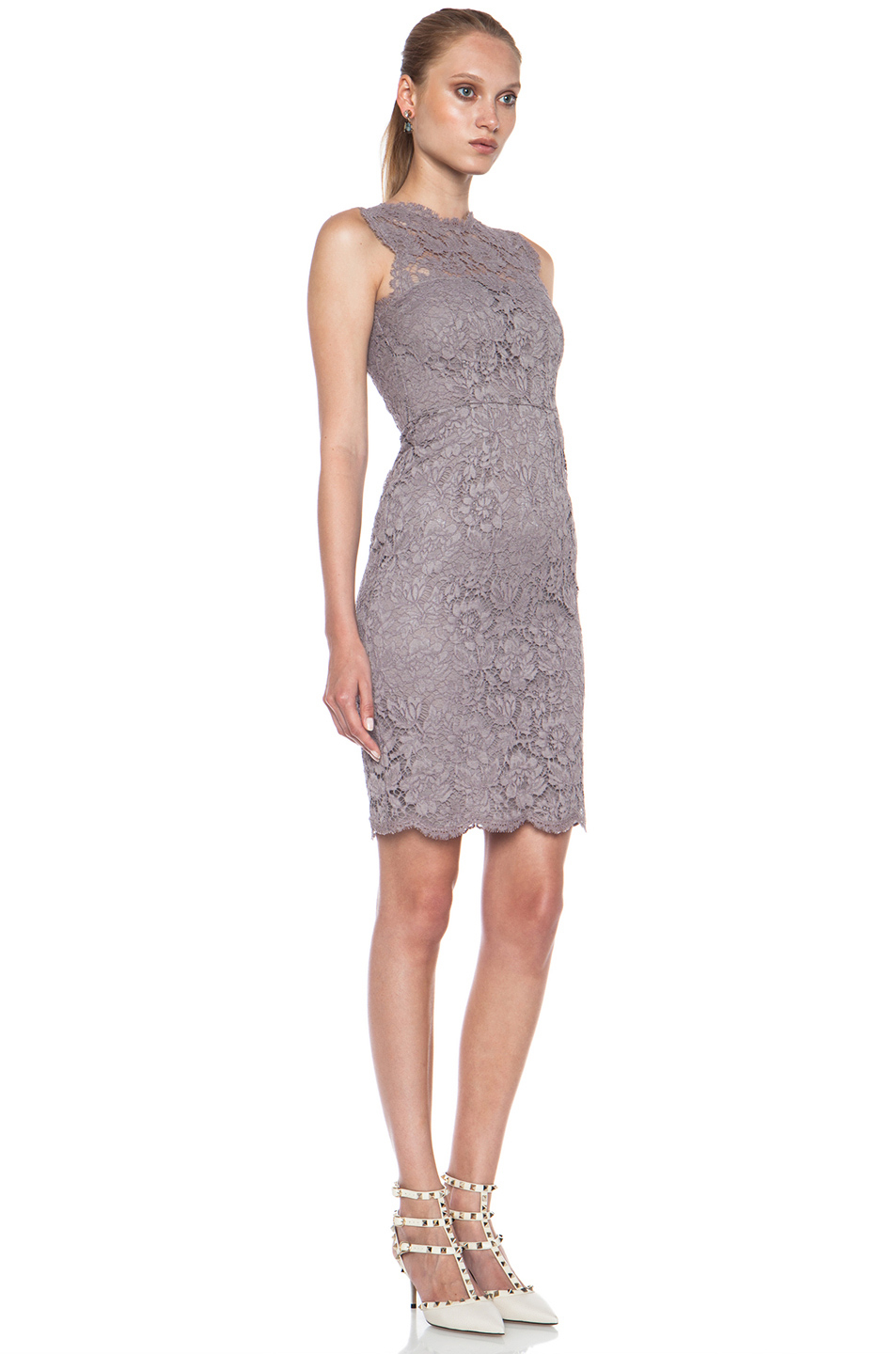Lilac-Gray-Colored-Dress