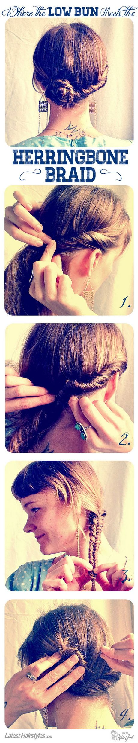 Easy hair tutorials - Herringbone braid