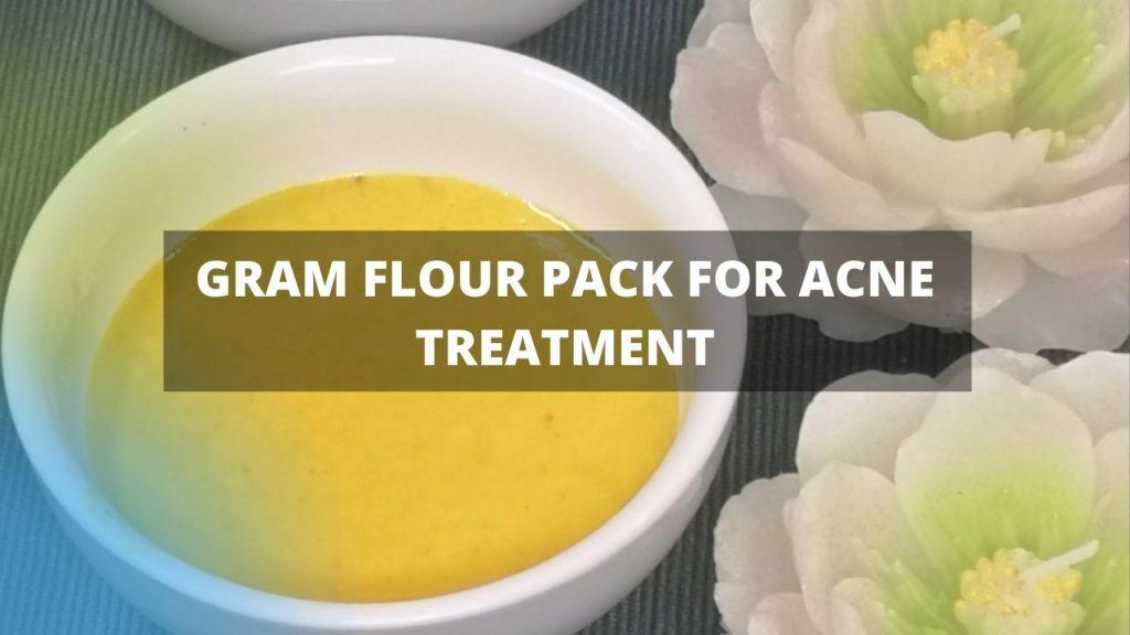 Gram Flour Face Mask Acne Homemade Face Pack