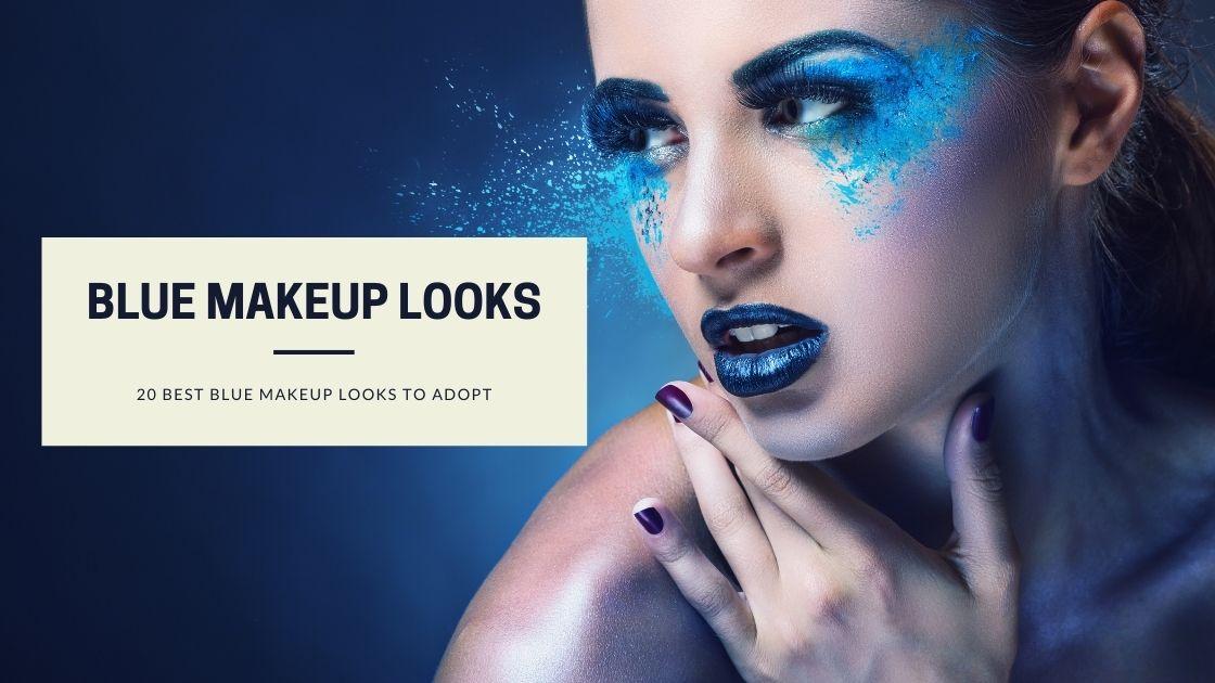 Cute easy makeup looks in blue
