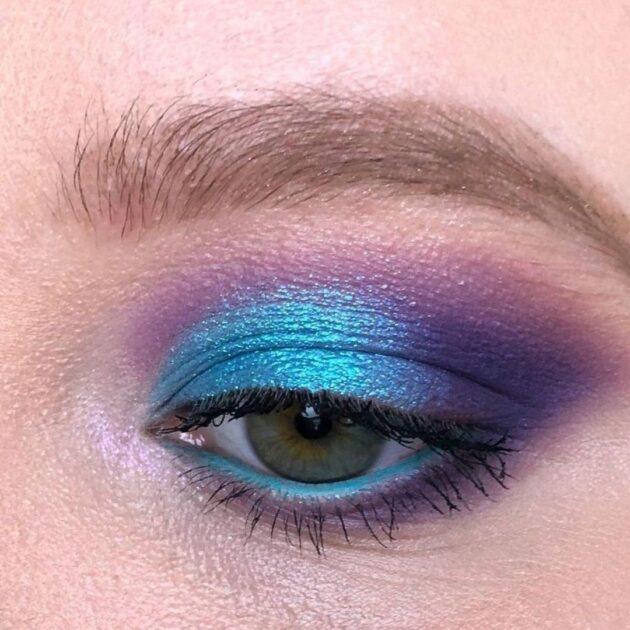 Litmus blue makeup