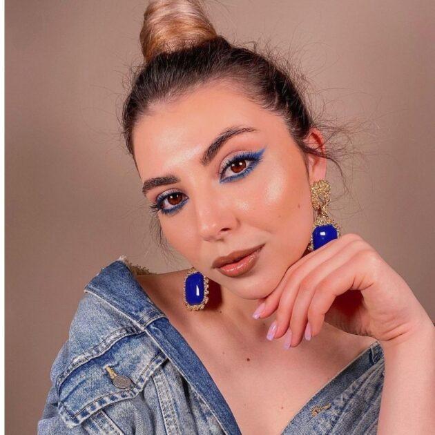 Natural blue makeup 2