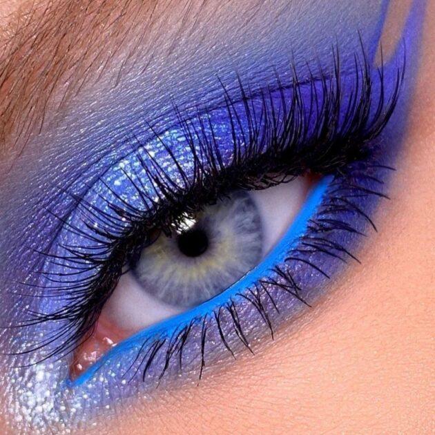 Navy Blue Makeup Trend