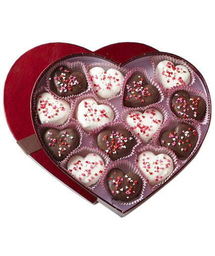 heart brownie bites